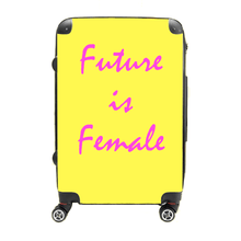 Future is Female - Singular Luggage Custom Luggage and Backpacks.  Design your own artwork decoration.