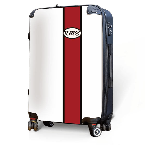 Monogram - Red Customizable - Singular Luggage Custom Luggage and Backpacks.  Design your own artwork decoration.