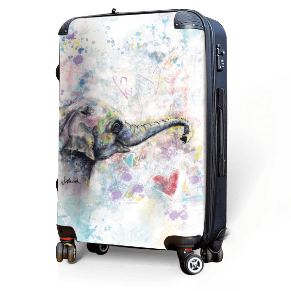 Female Elephant - Singular Luggage Custom Luggage and Backpacks.  Design your own artwork decoration.