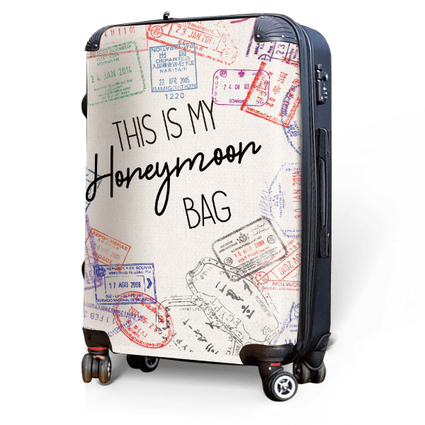 Honeymoon Bag - Singular Luggage Custom Luggage and Backpacks.  Design your own artwork decoration.