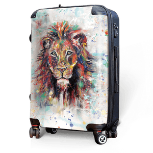 Lion - Singular Luggage Custom Luggage and Backpacks.  Design your own artwork decoration.