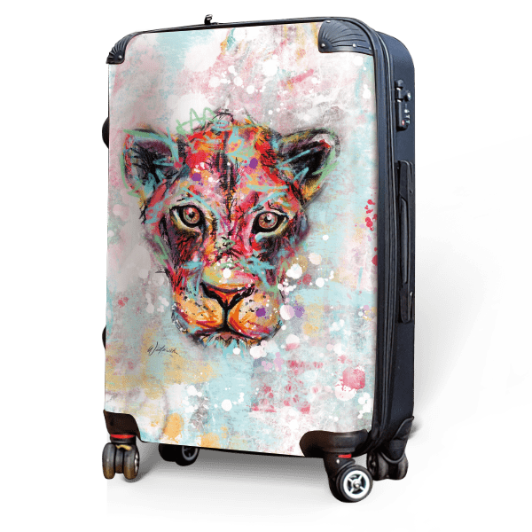 Lioness - Singular Luggage Custom Luggage and Backpacks.  Design your own artwork decoration.