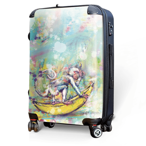 Monkey - Singular Luggage Custom Luggage and Backpacks.  Design your own artwork decoration.
