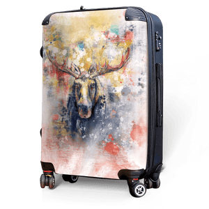 Moose - Singular Luggage Custom Luggage and Backpacks.  Design your own artwork decoration.