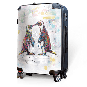 Penquins - Singular Luggage Custom Luggage and Backpacks.  Design your own artwork decoration.