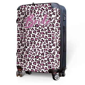 Pink Leopard - Singular Luggage Custom Luggage and Backpacks.  Design your own artwork decoration.