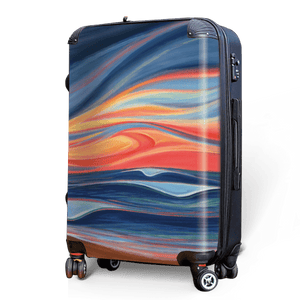 Seaside Sunset - Singular Luggage Custom Luggage and Backpacks.  Design your own artwork decoration.