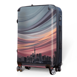 Toronto Sunset - Singular Luggage Custom Luggage and Backpacks.  Design your own artwork decoration.