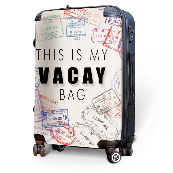 This is my Vacay - Singular Luggage Custom Luggage and Backpacks.  Design your own artwork decoration.