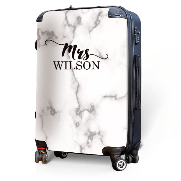 Yours, in Marble - Singular Luggage Custom Luggage and Backpacks.  Design your own artwork decoration.