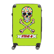Splatter Paint Pirate - Singular Luggage Custom Luggage and Backpacks.  Design your own artwork decoration.