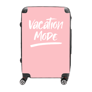 Vacation Mode - Singular Luggage Custom Luggage and Backpacks.  Design your own artwork decoration.
