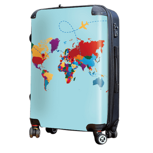 World Traveller - Singular Luggage Custom Luggage and Backpacks.  Design your own artwork decoration.