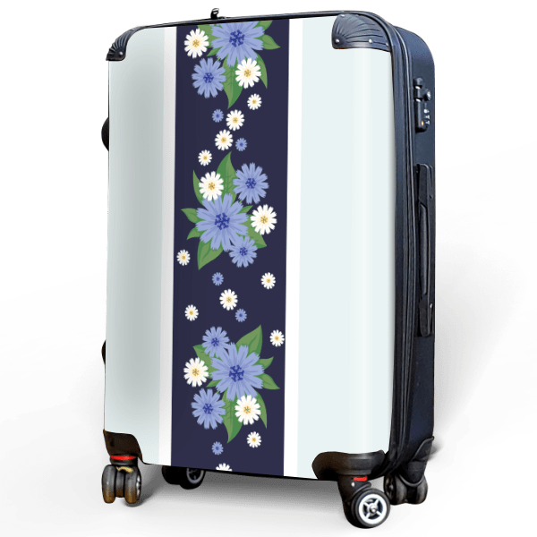 Hibiscus - Singular Luggage Custom Luggage and Backpacks.  Design your own artwork decoration.