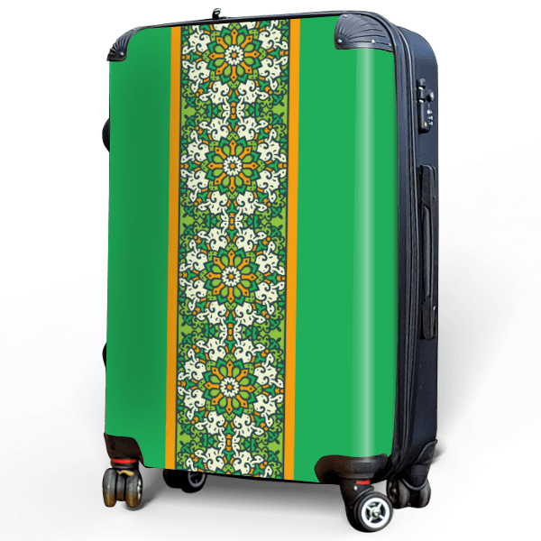 Inspired by Ireland - Singular Luggage Custom Luggage and Backpacks.  Design your own artwork decoration.