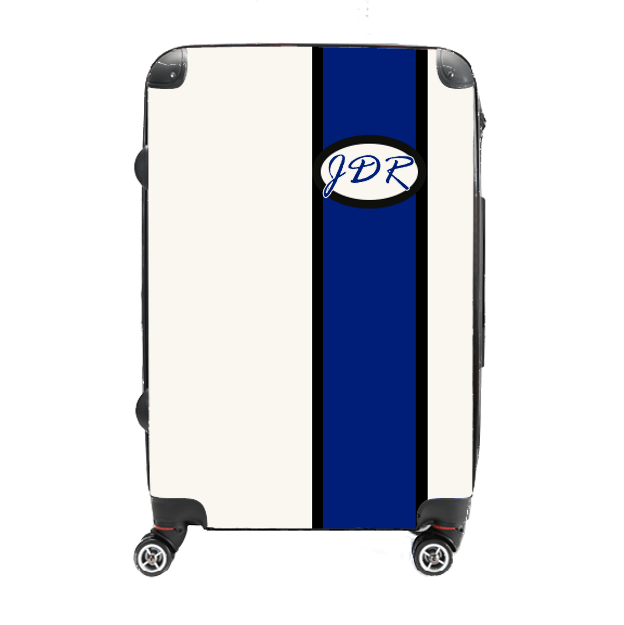Monogram - Blue Customizable - Singular Luggage Custom Luggage and Backpacks.  Design your own artwork decoration.