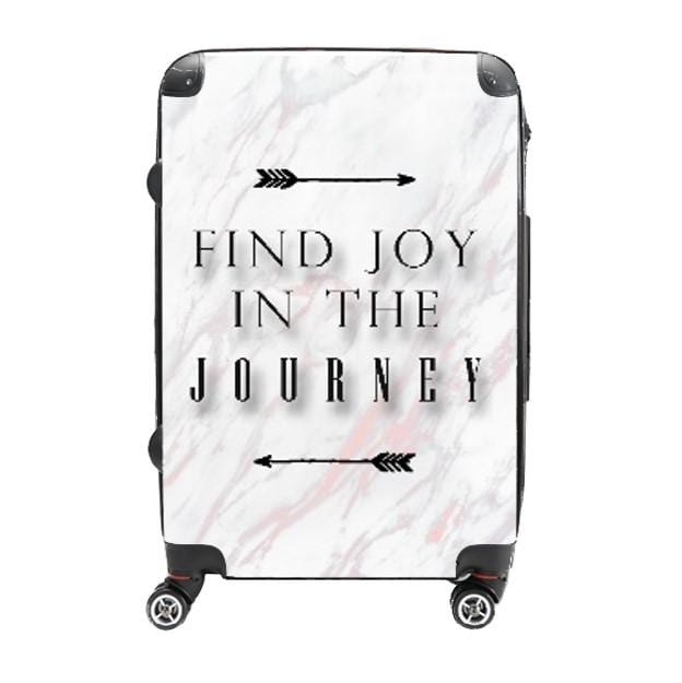 Find Joy in the Journey - Singular Luggage Custom Luggage and Backpacks.  Design your own artwork decoration.