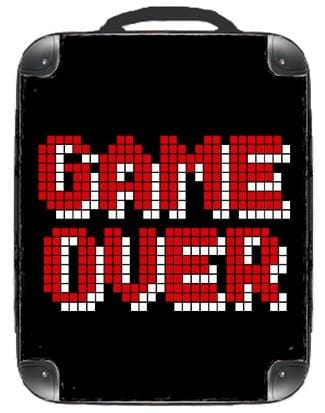 Game Over Backpack - Singular Luggage Custom Luggage and Backpacks.  Design your own artwork decoration.