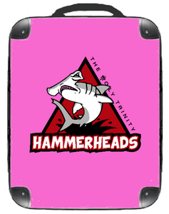 "Hammerheads Pink 15"" Backpack - Singular Luggage Custom Luggage and Backpacks.  Design your own artwork decoration."
