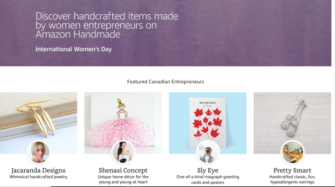 Amazon.ca Mothers Day Featured Artisans Handmade at Amazon