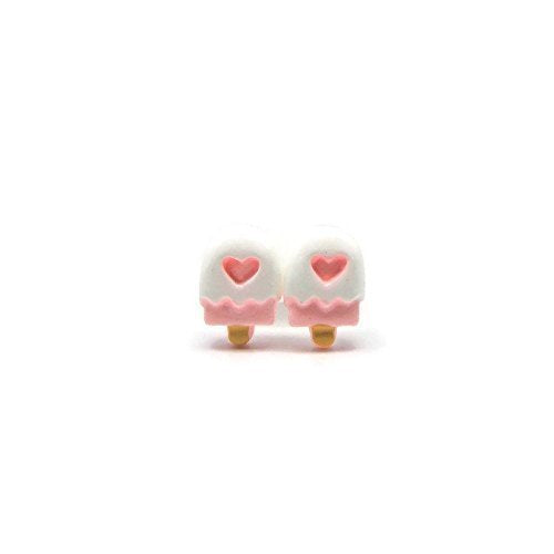 Plastic Post or Invisible Clip On Metal Free Pink Popsicle Studs