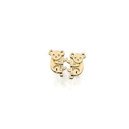 Koala Bear Stud Invisible Clip On or Plastic Post Stud Look Earrings