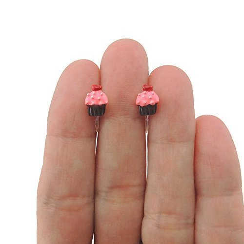Pretty Smart earrings invisible clip on cupcake earrings