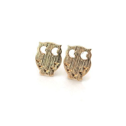 Owl Studs, Invisible Clip On or Plastic Post Stud Look Earrings 12mm
