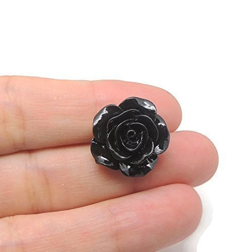 20mm Large Rose Floral Earrings on Metal Free Plastic Posts