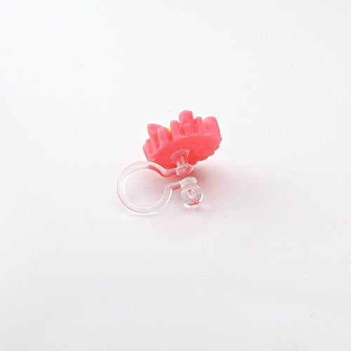Metal Free Daisy Earrings on Invisible Clip on for Non-Pierced Ears
