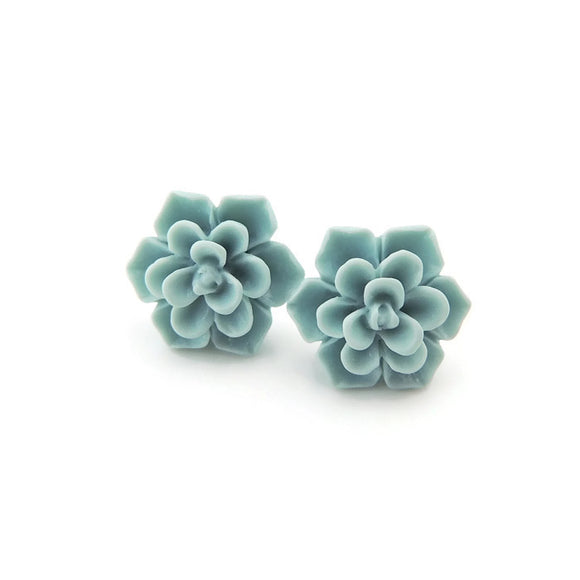 Pretty Smart succulent earrings on metal free plastic posts