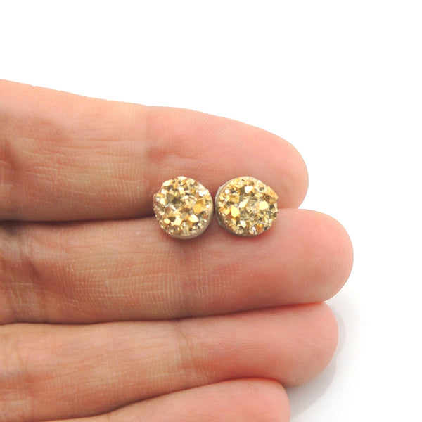 Gold Tone Smart Earrings Plastic Post Jewelry Nickel Free Hypoallergenic Non-Pierced Clip On Girls Fashion