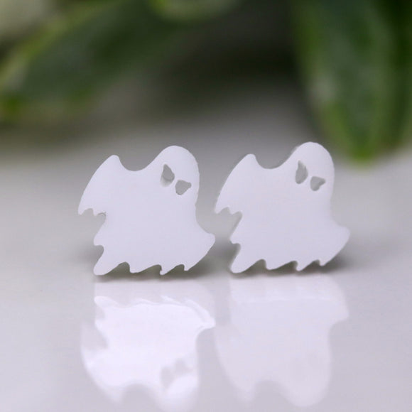 Plastic Post or Invisible Clip On, Metal Free Ghost Earrings, 9mm