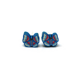 Plastic Post or Invisible Clip On Metal Free Butterfly Earrings, 5mm