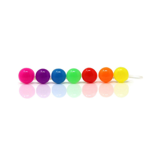 Plastic Post or Invisible Clip On Metal Free Neon Cabochon Earrings, 6mm