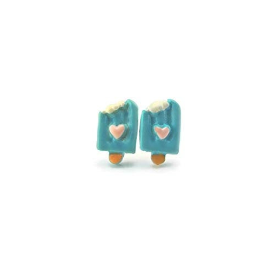 Plastic Post or Invisible Clip On Metal Free Blue Popsicle Studs