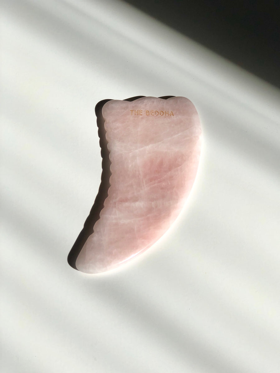 THE WING Rose Quartz Body Gua Sha