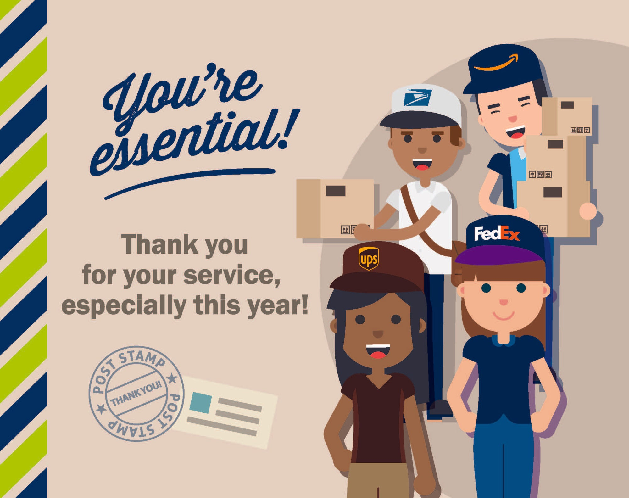 Give Thanks to Postal Workers with this Cute Sign