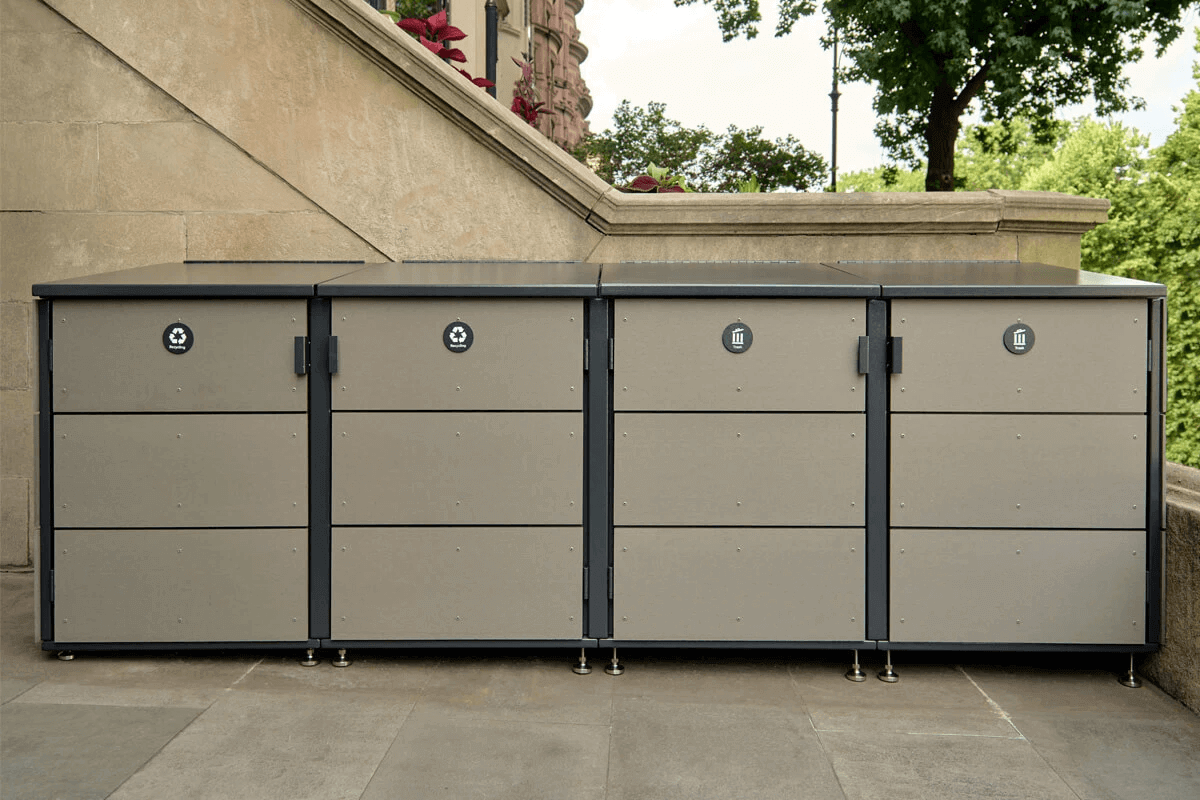 trash can storage – CITIBIN Slate color 4-module
