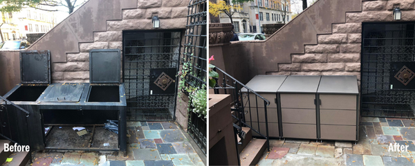 citibin trash enclosure garbage before and after