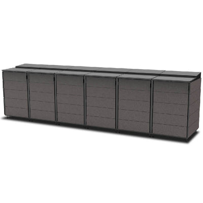#XL 6-Module#Charcoal#Sectional Lid