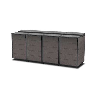 #XL 4-Module#Charcoal#Sectional Lid