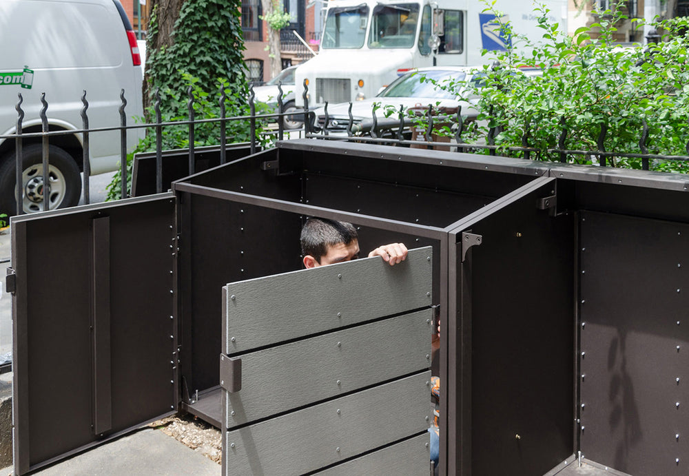 citibin trash garbage enclosure installation brooklyn