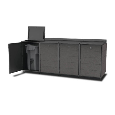 #XL 4-Module#Charcoal#Open Top