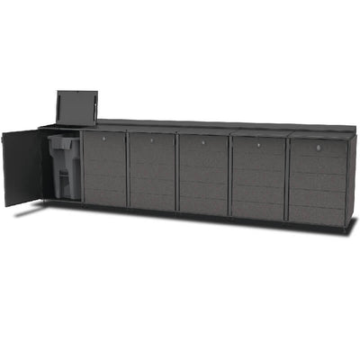 #XL 6-Module#Charcoal#Open Top