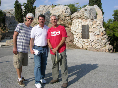 On Mars Hill Athens, with Randy Smith & Michael Bagby