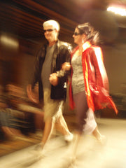 Jake with his daughter Cassie, modeling at a fashion show in Turkey.