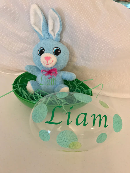 Personalized Easter Egg with Personalized Stuffed Animal