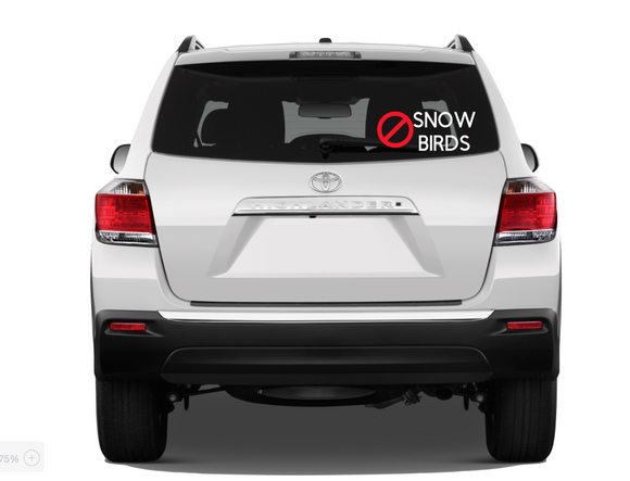 No Snow Birds Funny Bumper Sticker