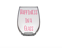 #stickifyvinyl #swfl #plastic #shatterproof #stemlesswineglass #wine #glass #happiness
